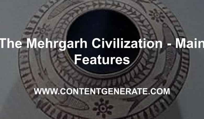 The Mehrgarh Civilization - Main Features