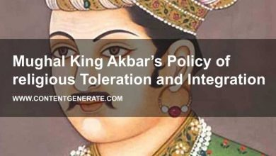 Mughal King Akbar's Policy of religious Toleration and Integration
