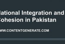 National Integration and Cohesion in Pakistan