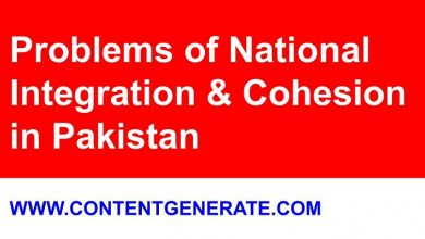 Problems of National Integration and Cohesion