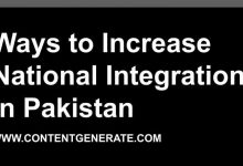 Ways to Increase National Integration in Pakistan