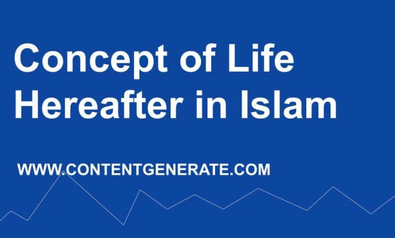 Concept of Life Hereafter in Islam