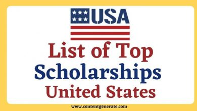 List of Top Scholarships in USA
